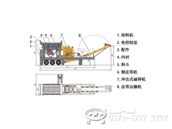 移动式破碎站结构系统