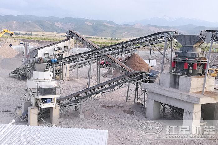 时产300吨硬物料加工客户现场