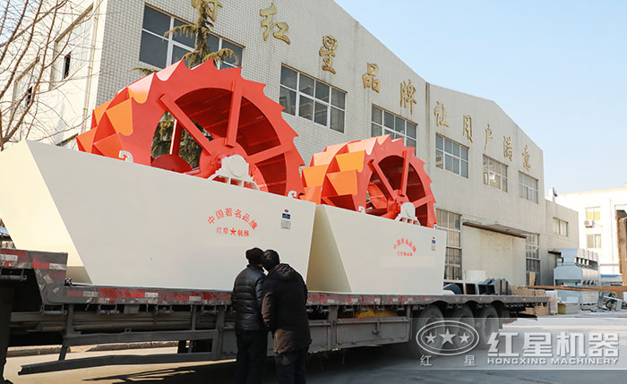 大型水洗砂机械新葡亰8455厂区直发